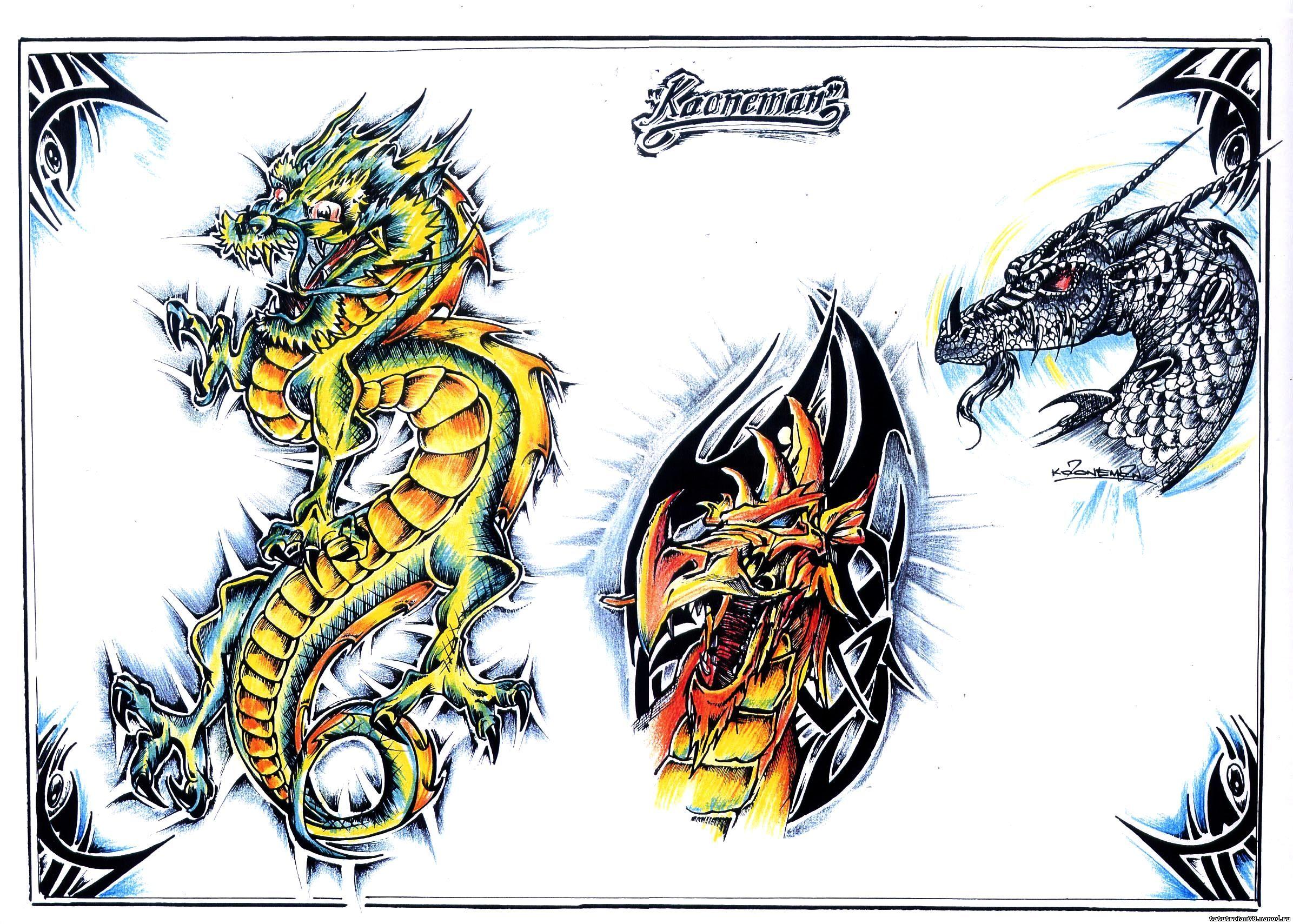 Фото драконов для татуировок
